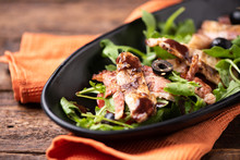A Chicken Salad With Rucola Ba...
