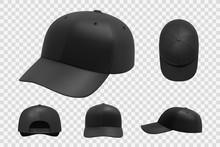Black Cap Mockup Set. Illustra...