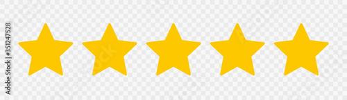 Obraz Five stars. Quality sign. Vector - fototapety do salonu