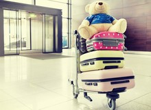 Photo Of Baggage On Cart With ...