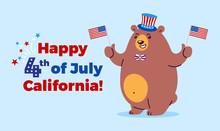 July 4th Fourth Illustration -...