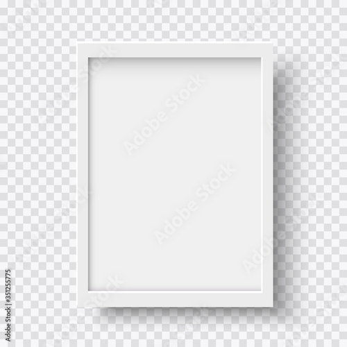 Cuadros en Lienzo White blank picture frame, realistic vertical picture frame, A4