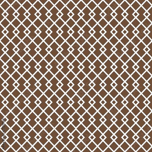 Brown Diamond Lattice Pattern Design