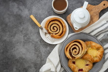 Danish Pastry With Coffee Cup ...