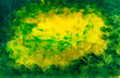 Leinwanddruck Bild - grunge background with green texture