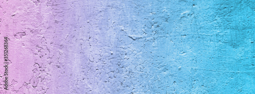 Banner pale blue pink wall. #351268364