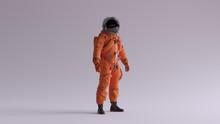 Orange Astronaut With Black Vi...