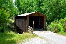 Elder Mill Covered Bridge At Watkinsville, Georgia Built 1897