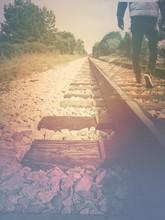 Walking Along Train Tracks