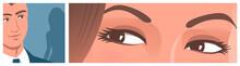 Beautiful Female Eyes Look At ...