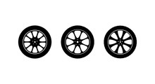 Set Of Vector Icons Car Wheels...