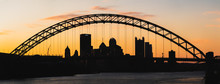 Silhouette Of West End Bridge Over Pittsburgh
