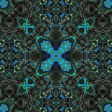 Mosaïque - Abstrait Turquoise...