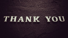 Word Thank You By Wooden Lette...