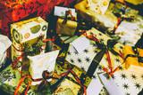 Full Frame Shot Of Christmas Presents