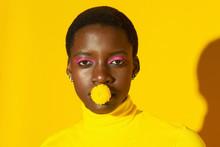 Close Up Portrait Of Young Fem...