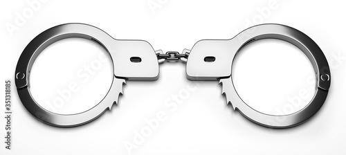 Photo Real metal handcuffs