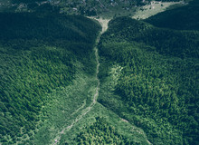 Aerial View Of Mountain Stream...