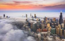 Aerial View Of Dense Fog Cover...