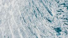 Aerial View Of A Glacier Textu...