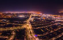 Aerial View Of Hull City At Ni...