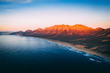 Aerial View Of Wild Cofete Bea...