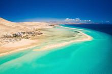 Aerial View Of Sotavento Beach...