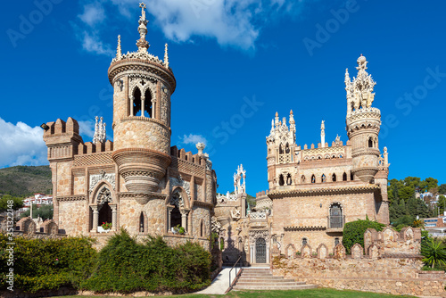 Carta da parati Colomares castle monument near Malaga town, Spain