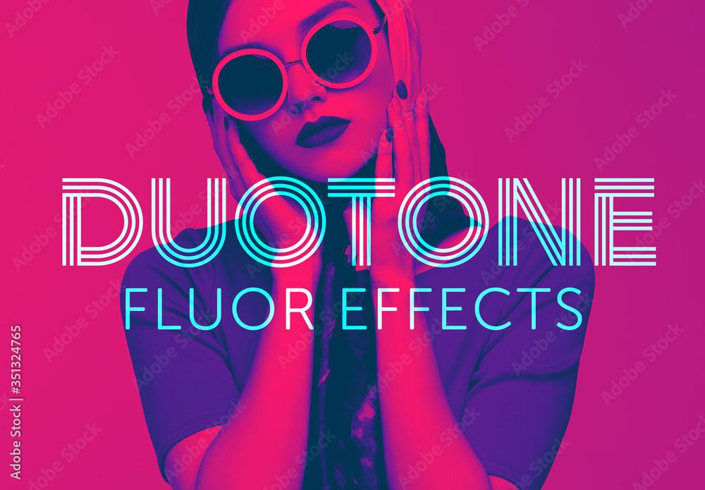 Fototapeta Bright Duotone Effect