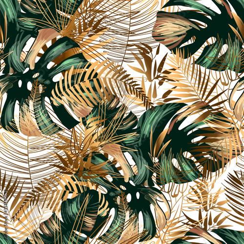 Obraz premium Monstery i paprocie w dżungli