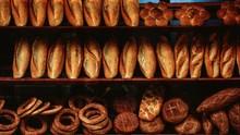 Full Frame Shot Of Breads For Sale At Bakery