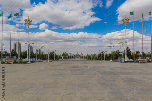Photo Ten Years of Independence Park in Ashgabat, capital of Turkmenistan
