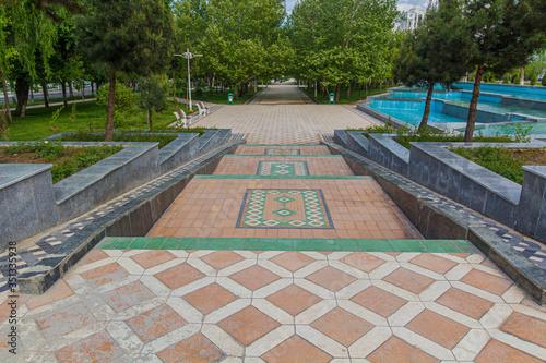 Photo Park in Ashgabat, capital of Turkmenistan.