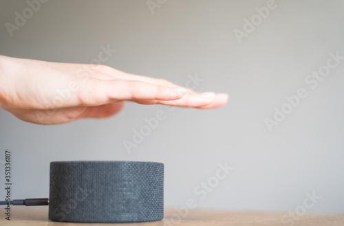 Photo Regulating the volume of the portable speaker