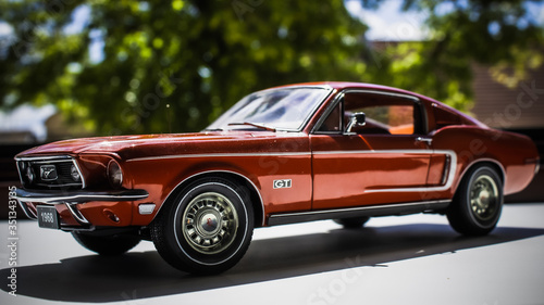 Miniature car Ford Mustang diecast Canvas Print
