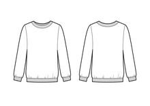 Trendy Women Sweatshirt. Vecto...
