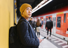 Stylish Man With Yellow Hat An...