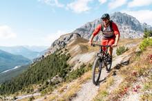 Man Riding On Mountainbike, Mu...