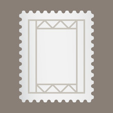Blank Postage Stamp Or Letter ...