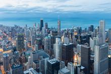 USA, Illinois, Chicago, View F...