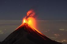 Guatemala, Fuego Volcano, Stro...