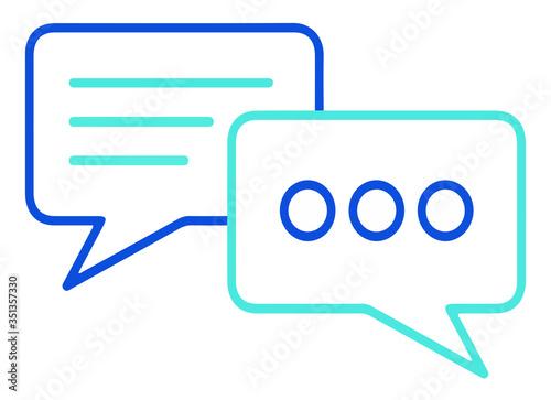 Photo Chat icono de vector