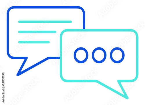 Chat icono de vector Canvas Print