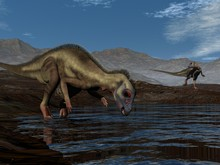 Hypsilophodon Dinosaur Drinkin...
