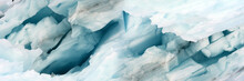Panorama Image Of Iceberg Carv...