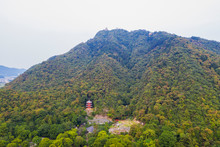 Three Storey Pagoda On Mount Kinka, Gifu Park, Gifu, Gifu Prefecture, Honshu, Japan, Asia