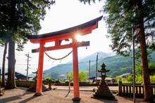 Tsumago Shrine Torii Gate, Nak...