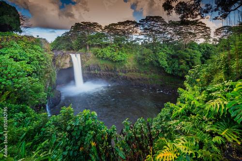 Rainbow Falls, Big Island, Hawaii, United States of America, North America - 351362755