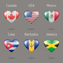 Heart Shaped Countries Of Nort...