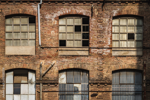 Windows of an old textile factory Wallpaper Mural